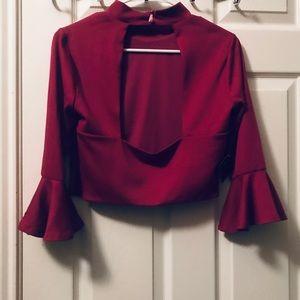 Nasty Gal Tops - Nasty Gal burgundy shirt